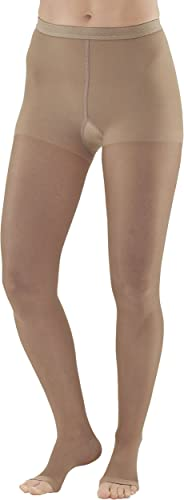 AW Style 33OT Sheer Support Open Toe Pantyhose - 20-30 mmHg Nude Medium 33OT-M-NUDE by Ames Walker