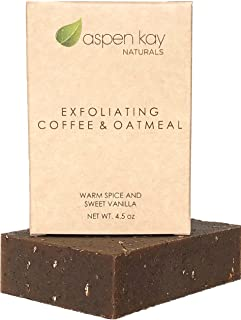 Coffee & Oatmeal Exfoliating Soap, 100% Natural and Organic Soap. With Organic Skin Loving Oil. A Wonderful Exfoliating Bo...