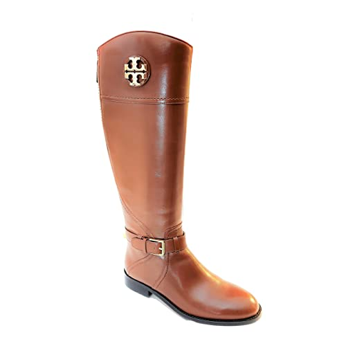 a560626e411 Tory Burch Adeline Riding Boot 20mm Almond Leather Size 8