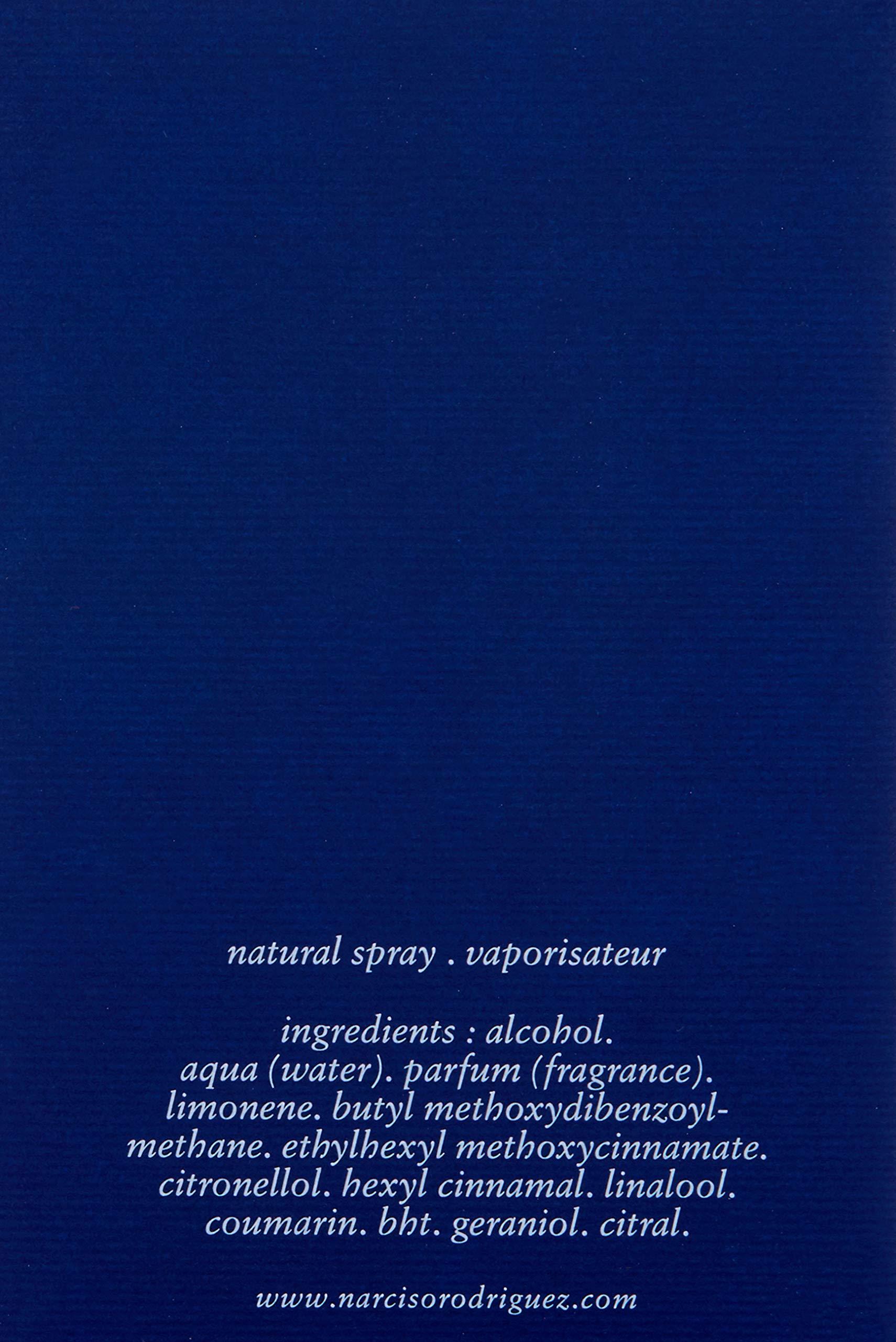 Narciso Rodriguez Him Bleu Noir Eau de Toilette Spray for Men, 3.3 Ounce