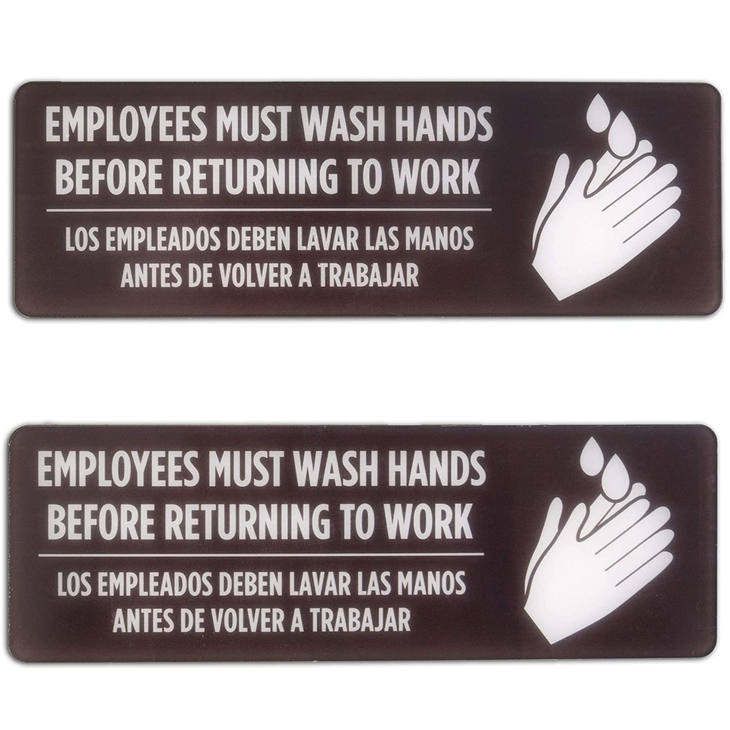 English Spanish Employees Must Sale item Wash Returning Hands to Before Fashionable