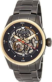 Men's Skeleton Automatic Watch - Skeletonized Dial with Automatic Movement On Stainless Steel Bracelet - AK970