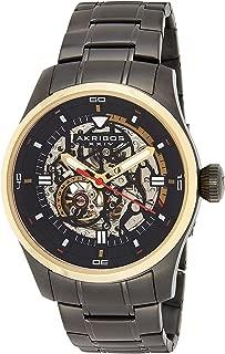 Akribos XXIV Men's Skeleton Automatic Watch - Skeletonized Dial with Automatic Movement On Stainless Steel Bracelet - AK970