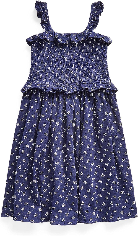 Polo Ralph Lauren Big Girls Floral Smocked Cotton Dress
