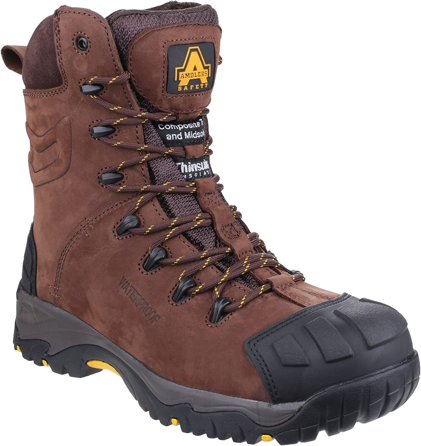 Amblers Safety Mens AS995 Pillar Waterproof Hi-Leg Lace up Safety Boot Brown Size UK 14 EU 48