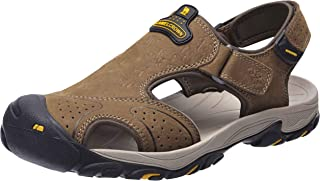 CAMEL CROWN Mens Hiking Sandals Waterproof Leather Fisherman Sandal for Athletic Outdoor Beach Sport Summer-Closed Toe Size 7-12