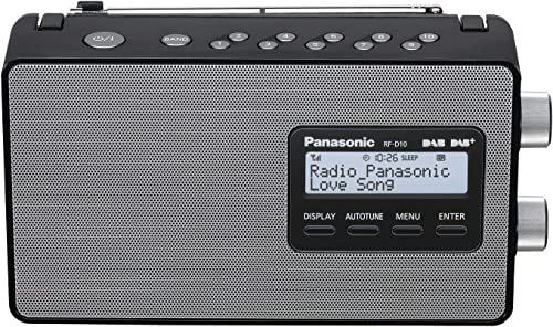 Panasonic DAB & DAB+ Compatible Portable Radio, Black, (RF-D10GN-K)