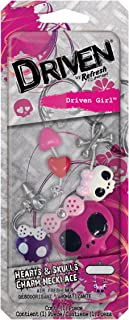 Refresh Your Car Driven 76119 Hearts and Skull Charm Necklace, Driven Girl