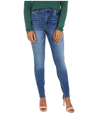 KUT from the Kloth Mia High-Rise Ankle Skinny with Raw Hem in Demonstrate (Demonstrate Wash) Women