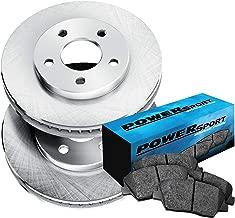 Fit 2012-2013 Nissan Versa Front PowerSport Blank Brake Rotors+Ceramic Brake Pad