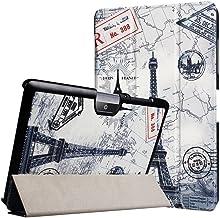 WiTa-Store Funda para Acer Iconia Tab One 10B3de A30A3de A4010.1Pulgadas Case Libro Cover Carcasa Azul Torre Eifel
