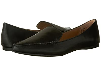 Steve Madden Feather Loafer Flat (Black Leather) Women