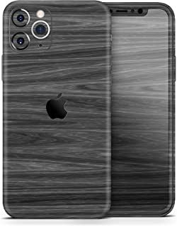 Dark Slate Wood - Protective Vinyl Decal Wrap Skin Cover Compatible with The Apple iPhone 11 Pro (Full-Body, Screen Trim & Back Glass Skin)