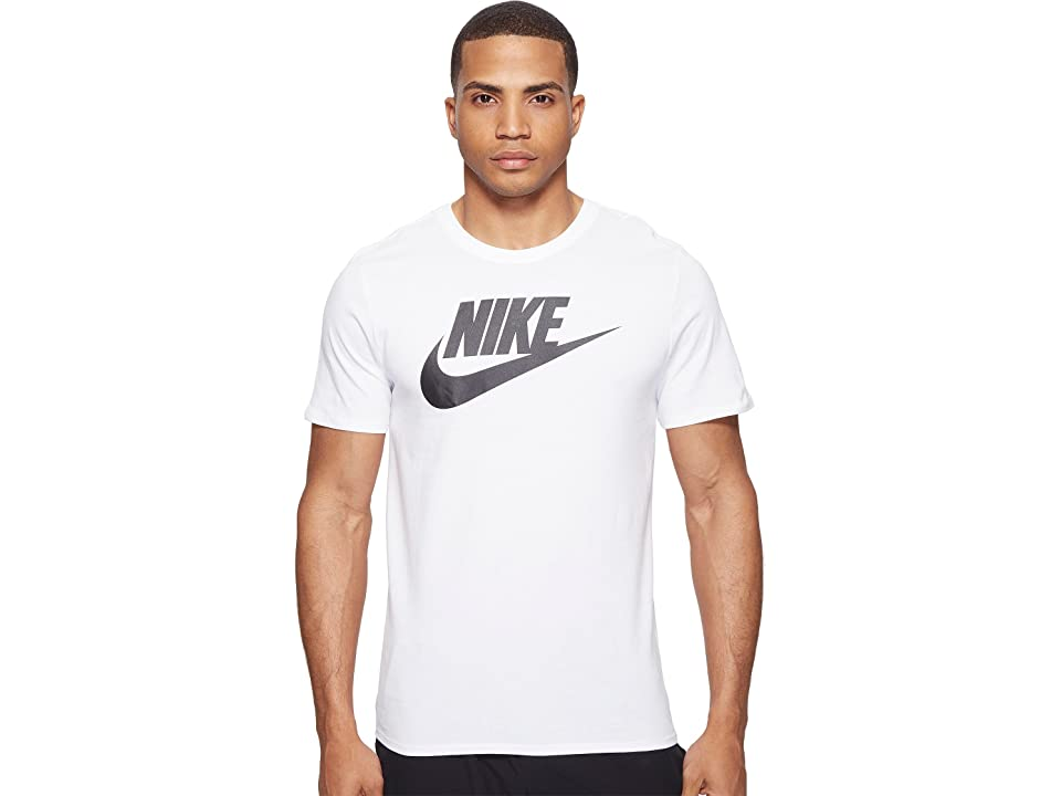Nike Futura Icon S/S Tee (White/White/Black) Men