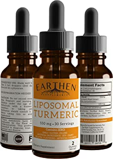 100% Organic Pure Turmeric Curcumin Liquid Drops- Liposomal Turmeric Best Absorption, Highest Potency, Natural Joint Pain & Inflammation Relief Support, Made in USA (2 oz.)