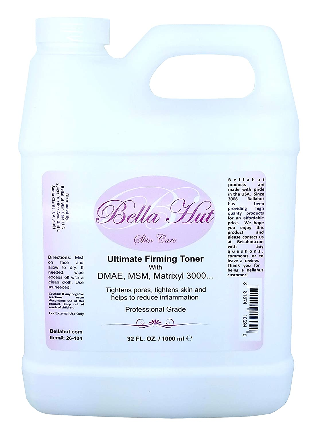Bellahut Ultimate DMAE MSM Ac Toner with Ranking integrated 1st place HYALURONIC Seasonal Wrap Introduction