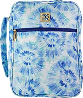 """Mary Square 10.5"""" x 8"""" x 2.5"""" Blue Rush Navy Tie Dye Bible Cover Bible Case with Handle Fits Standard Size Bible (29022) Mom Daughter"""
