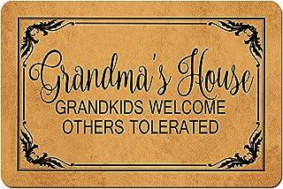 MOMOBO Funny Doormat Custom Indoor Doormat -Grandma's House Doormat Welcome Mat Funny Front Door Mats Home and Office Deco...