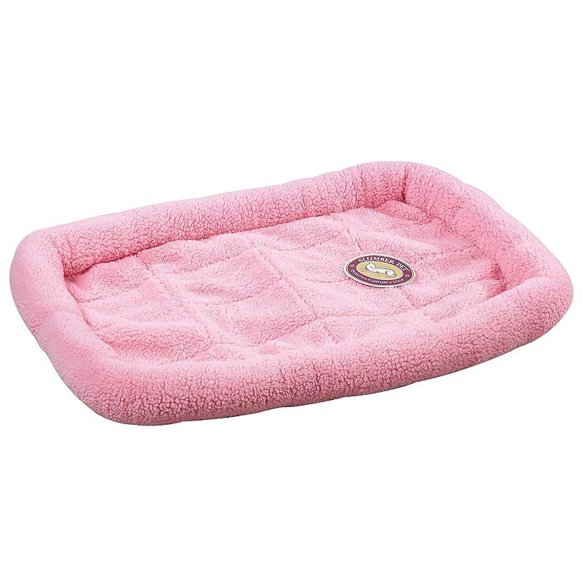 グラマー芸術全滅させるSlumber Pet Sherpa Crate Beds - Comfortable Bumper-Style Beds for Dogs and Cats - X-Small, Baby Pink by Slumber Pet