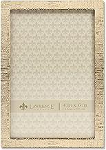 إطارات لورانس 4x6 إطار صورة نمط الكتان المعدني الذهبي 4x6 712346