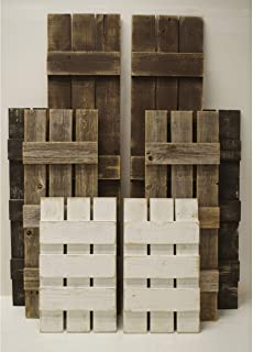Rustic Window Shutters -Custom Sizing- Reclaimed Barn Wood Shutters Set of 2. Exterior or Interior Decorative Farmhouse Barnwood Decor.