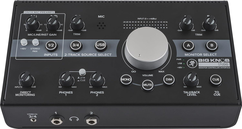 Mackie unisex Big Knob Series 3x2 Monitor USB Studio 192kHz Controller Bargain