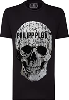Philipp Plein Herr T-shirt rund hals SS skalle strass