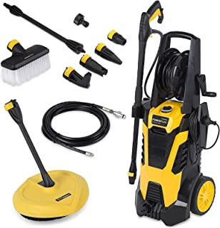 Powerplus High Pressure Washer 165BAR 2200w with 5 Metre Hose, Large Wheels & Accessories POWXG9035 - 3 Years Warranty.