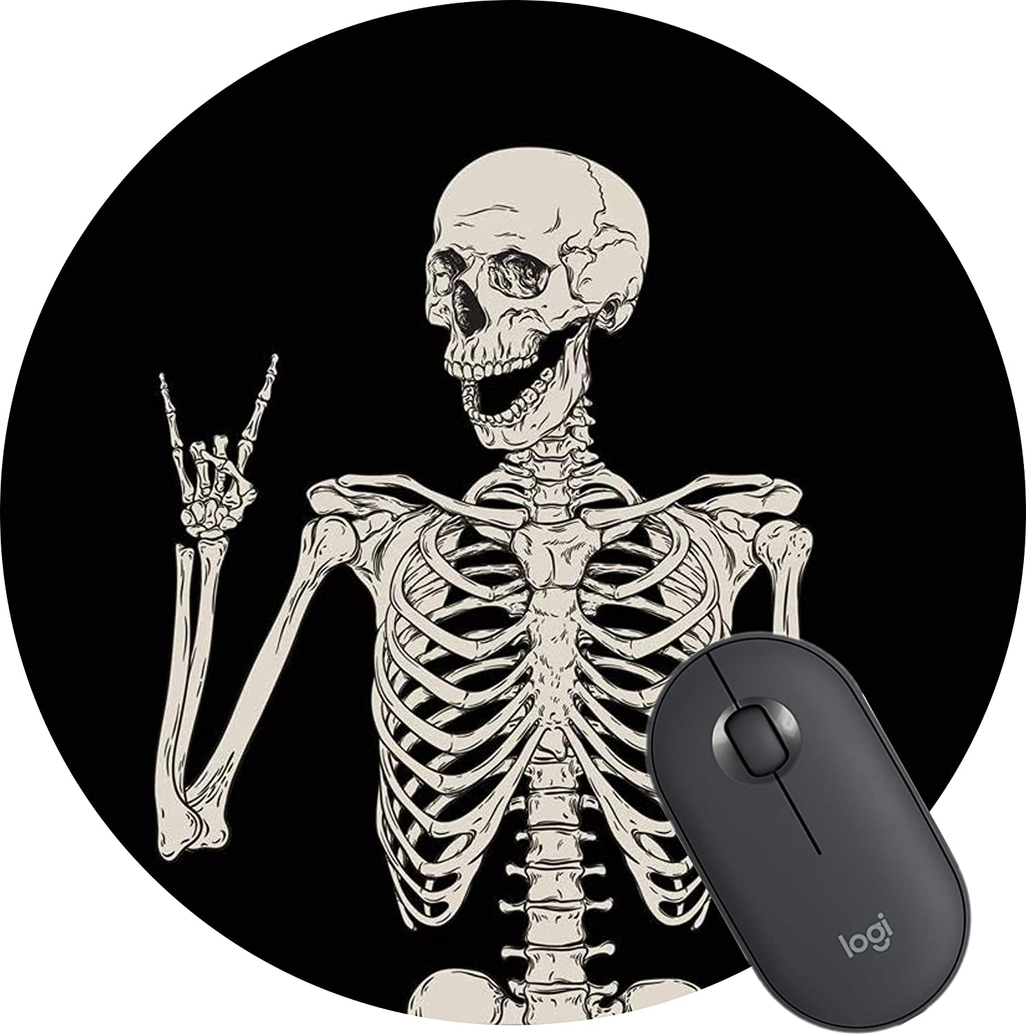 Skull Human Skeleton Mouse Mat Office Max 65% OFF quality assurance Mousepad Pad Gaming