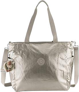 Kipling womens Lindsay Metallic Tote Bag, Metallic Pewter