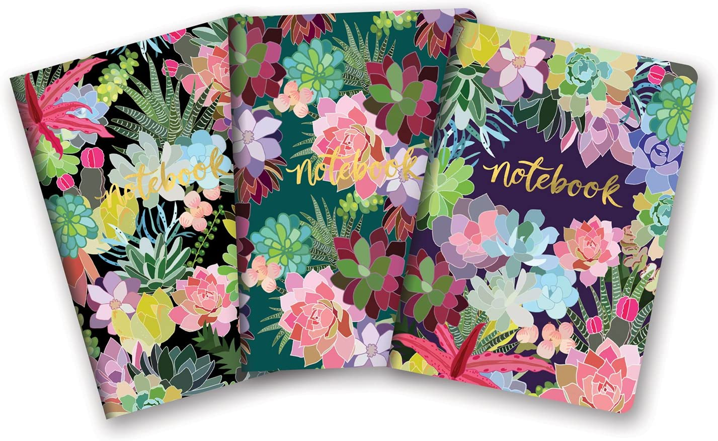 Notebook Trio by Studio Oh! - Set of 3 - Succulent Paradise - 5.75
