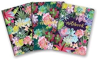 Studio Oh! Notebook Trio of 3 Coordinating Designs, Mia Charro Succulent Paradise
