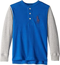 Big Pony Cotton Henley Shirt (Toddler)