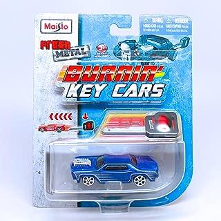 Burnin' Key Cars Rosewood (Blue) Maisto Fresh Metal Car with Classic Key Launcher