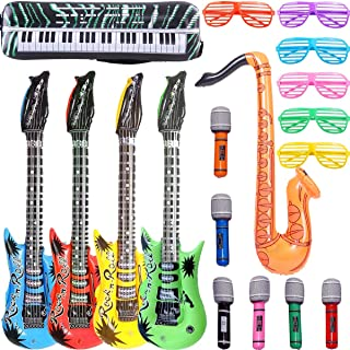 Inflatable Rock Star Toy Set, 18 Pack Inflatable Party Props