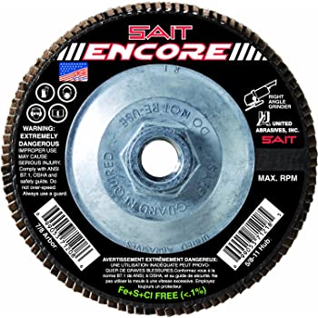 80X United Abrasives-SAIT 70112 2A Flap Wheel 3 x 2 x 1//4 10-Pack