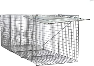 Large One Door Catch Release Heavy Duty Cage Live Animal Trap for Dogs, Foxes, Badgers, Coyotes, and Other Similar Sized Animals, 42