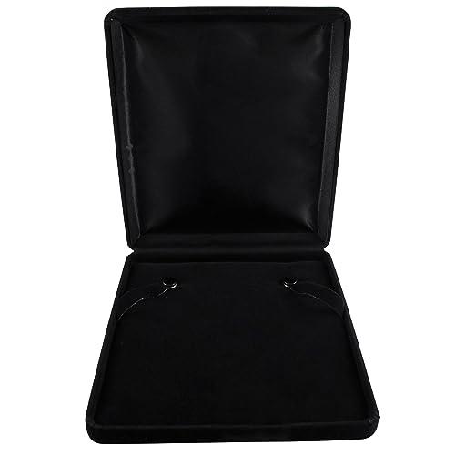7bf7227ad Isaac Kieran Black Velvet Necklace Gift Box Travel Storage Display Case 6x7