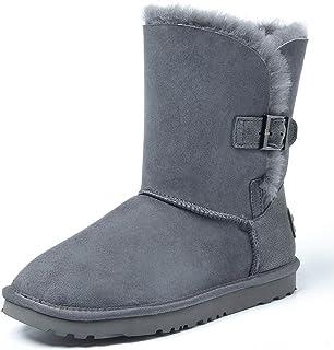 Shenduo Scarpe Donna Invernali - Stivali da Neve con Antisdrucciolo con Pulsante DV5803