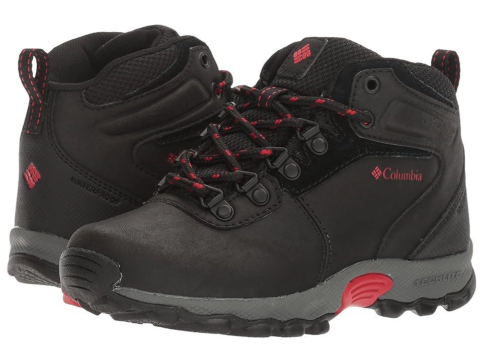 Columbia Kids Newton Ridge Waterproof (Toddler/Little Kid/Big Kid) (Black/Mountain Red) Kids Shoes