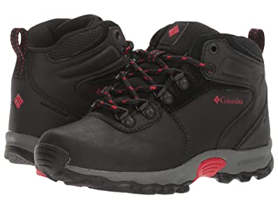 Columbia Kids Newton Ridge Waterproof (Little Kid/Big Kid) (Black/Mountain Red) Kids Shoes