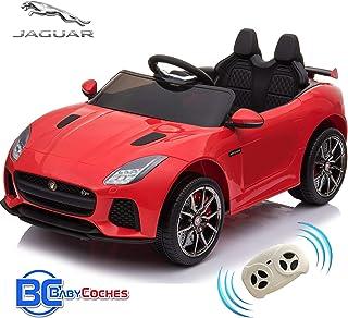 BC BABY COCHES Jaguar F-Type SVR Coche eléctrico para niños con batería 12v,