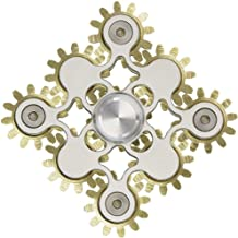 Wheel Gears Electric Saw Metal Fidget Hand Spinners Toys with ceramics Bearings white