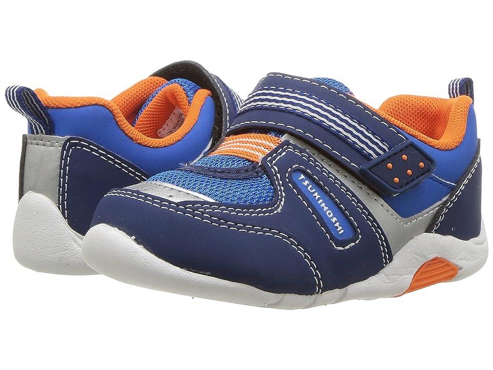 Tsukihoshi Kids Neko (Toddler) (Navy/Tangerine) Boys Shoes