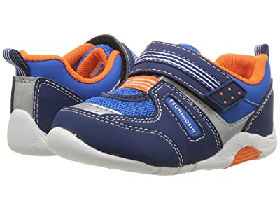 Tsukihoshi Kids Neko (Toddler) (Navy/Tangerine) Boys Shoes