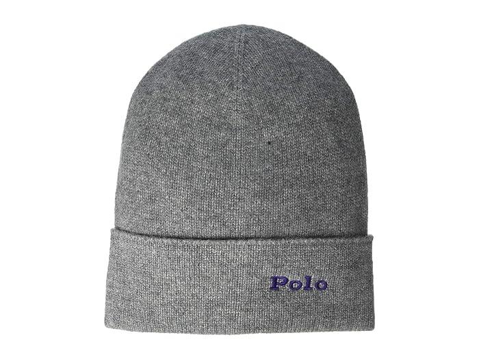 Polo Ralph Lauren  Cashmere Cuff Hat (Fawn Grey Heather) Knit Hats