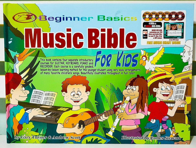 Biblia Música Infantil - Aprende a tocar guitarra, piano, teclado y grabadora - DVDs
