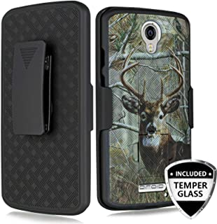 Droid Turbo 2 Case, Customerfirst for Motorola Droid Turbo 2 (XT1585) Rubberized Slim Armor Shell Swivel Hybrid Holster Camo Cover + Belt Clip, Dual Stand & Screen Glass (CAMO)