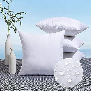 MIULEE Pack of 4 Outdoor Pillow Inserts Waterproof 18x18 Throw Pillow Inserts Premium Hypoallergenic Pillow Stuffer Sham S...