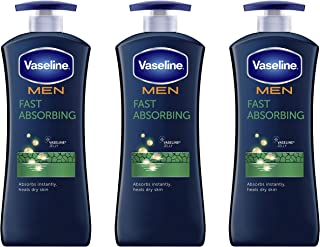 Vaseline Men Healing Moisture Hand and Body Lotion For Dry Skin Fast Absorbing Absorbs in..